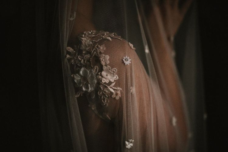 Bespoke Embellished Wedding Veil By Julita London // Image By James Frost Photography