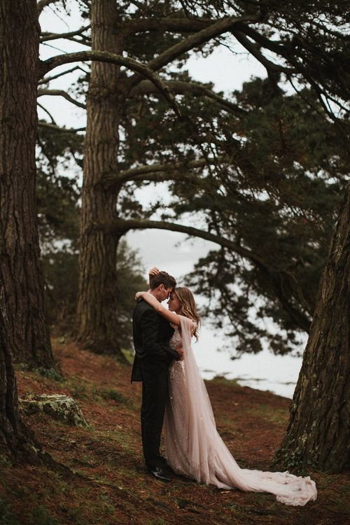 Couples Shoot Amongst The Pine Trees In Cornwall // James Frost Photography