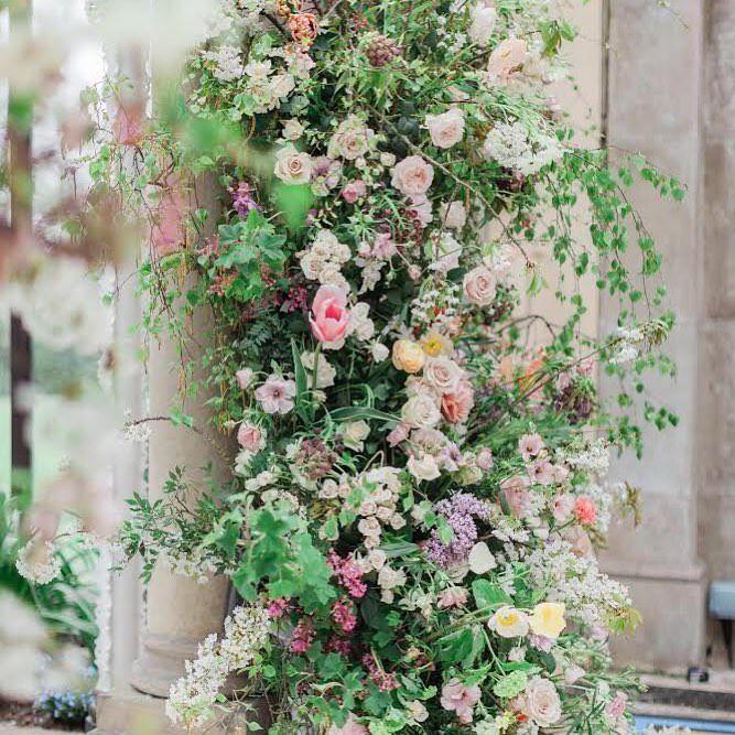 Summer Wedding Flowers Installation by Flowers By Breige