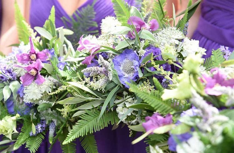 Bright Purple Bouquets by Green Earth Flowers