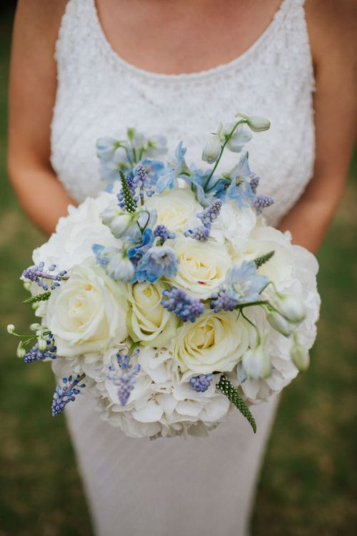 Blue and White Bouquet  by Forever Blooms