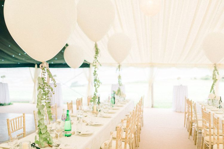 Eucalyptus Garlands and Wedding Balloons by Bels Flowers