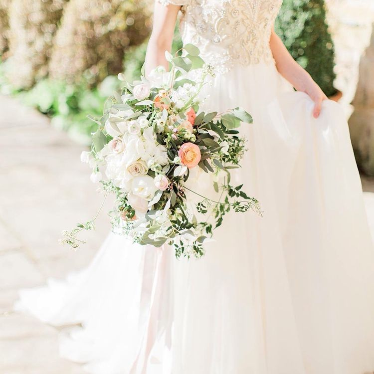 Whimsical Garden Foliage and Rose Bouquet by Bels Flowers, Image by Katy Melling Photography