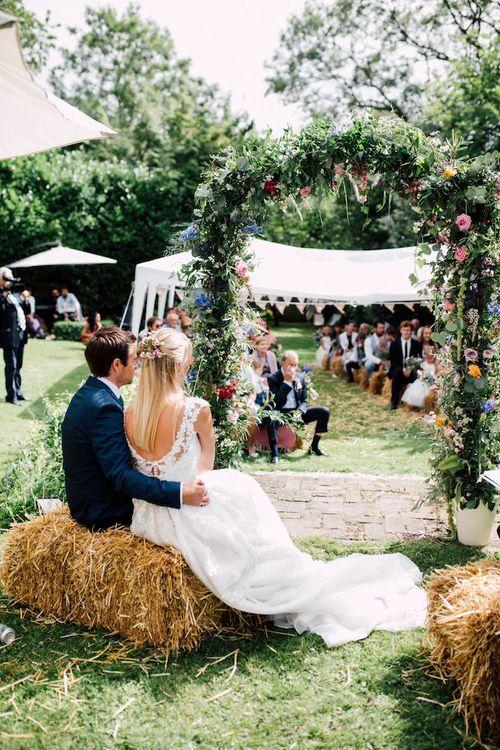 Festival Wedding Floral Arch by Floren Studio