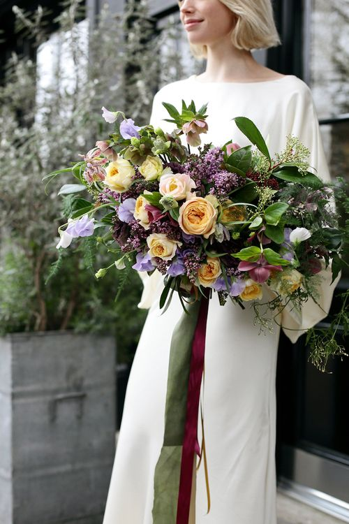 Yellow and Purple Bouquet Love At First Sight Floristry and Styling