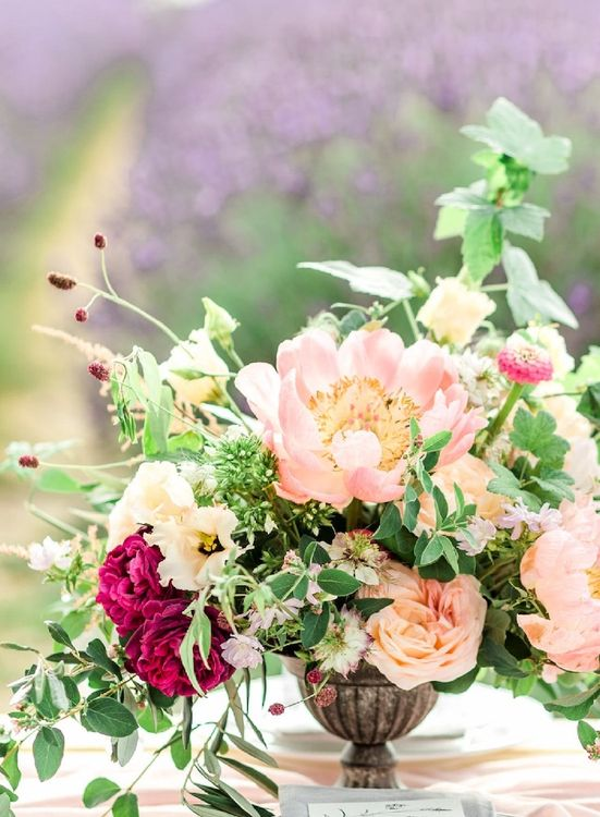 Pink Wedding Flowers by Gather and Bloom