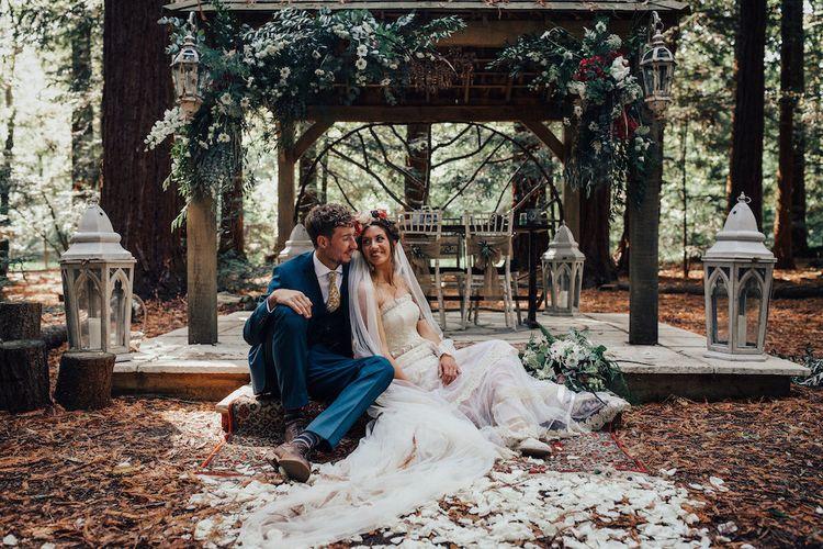 Summer Wedding Flower Installation Boho Wedding by Daisy Ellen Floral Design