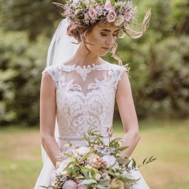 Large Bride Flower Crown by Forever Blossom
