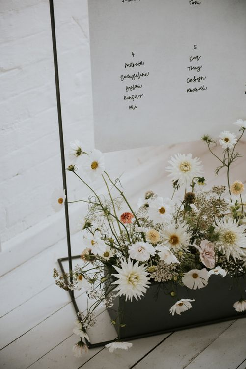 planter box wedding decor