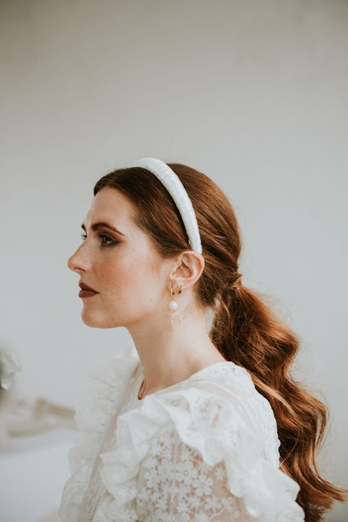 Bridal accessories and wedding makeup