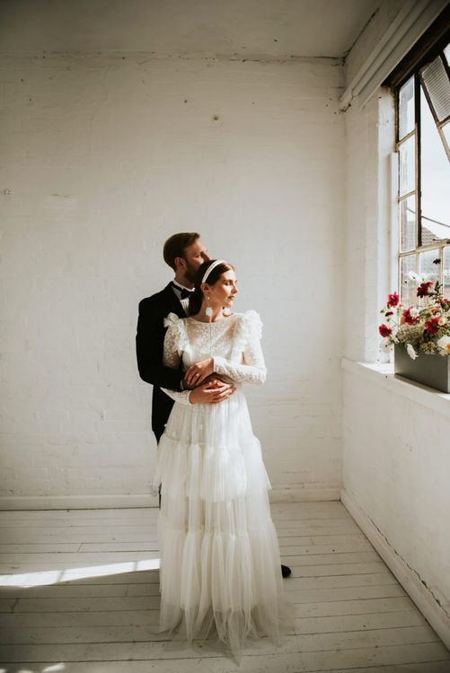 tiered wedding dress by KATYA KATYA for minimalism wedding dress