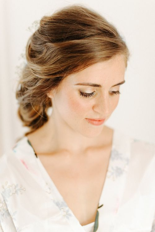 Wedding Morning Bridal Preparations | Wedding Makeup | Copper, Marble & Foliage Glass Marquee Wedding & Outdoor Ceremony on Temple Island in Oxfordshire | Belle and Beau Fine Art Photography