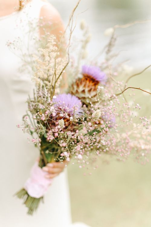 Wild Wedding Bouquet | Copper, Marble & Foliage Glass Marquee Wedding & Outdoor Ceremony on Temple Island in Oxfordshire | Belle and Beau Fine Art Photography