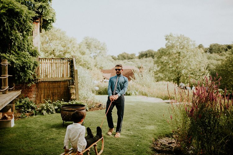 Wedding Guests | Feather & Foliage Festival Wedding Weekend at Copse House, Berkshire | Irene Yap Photography | Tanita Cox Films