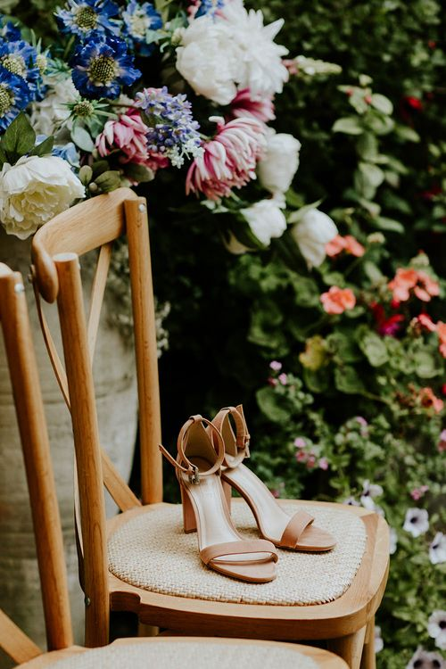 Dune Bridal Shoes | Feather & Foliage Festival Wedding Weekend at Copse House, Berkshire | Irene Yap Photography | Tanita Cox Films