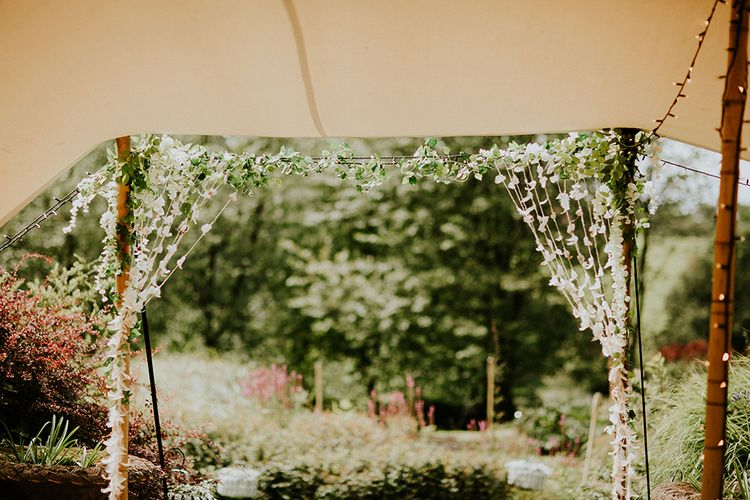 Aisle & Altar Style | Feather & Foliage Festival Wedding Weekend at Copse House, Berkshire | Irene Yap Photography | Tanita Cox Films