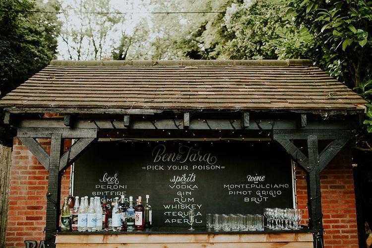 Bar | Feather & Foliage Festival Wedding Weekend at Copse House, Berkshire | Irene Yap Photography | Tanita Cox Films