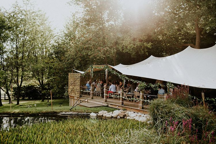 Stretch Tent Reception | Feather & Foliage Festival Wedding Weekend at Copse House, Berkshire | Irene Yap Photography | Tanita Cox Films