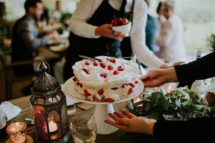 Pavlova | Feather & Foliage Festival Wedding Weekend at Copse House, Berkshire | Irene Yap Photography | Tanita Cox Films