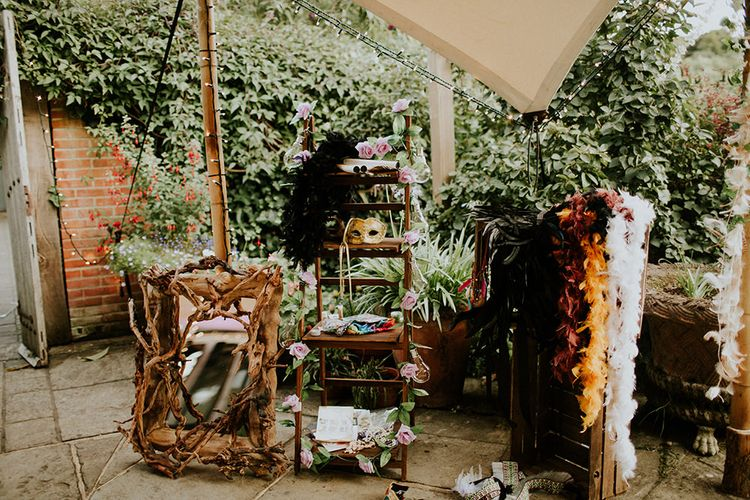 Dressing Up Box | Feather & Foliage Festival Wedding Weekend at Copse House, Berkshire | Irene Yap Photography | Tanita Cox Films