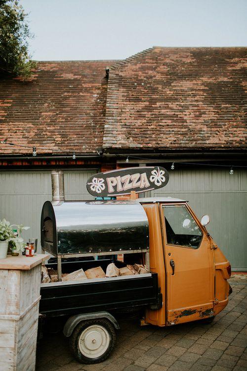 Pizza Van | Feather & Foliage Festival Wedding Weekend at Copse House, Berkshire | Irene Yap Photography | Tanita Cox Films