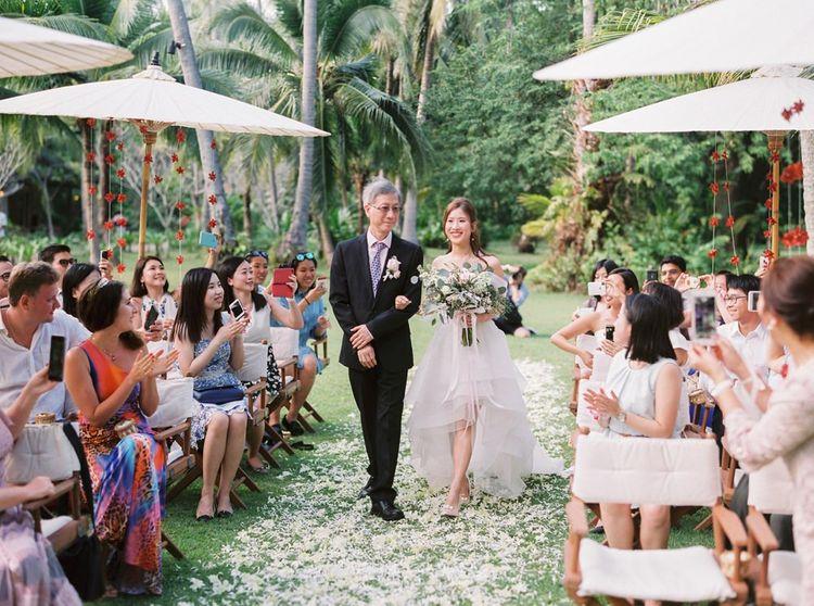 Wedding ceremony bridal entrance