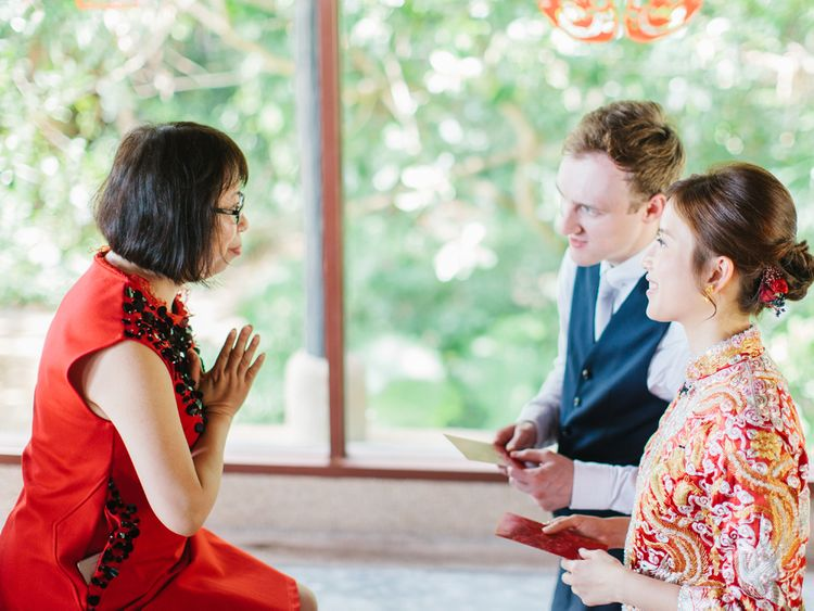 Prayers at Chinese Tea Ceremony