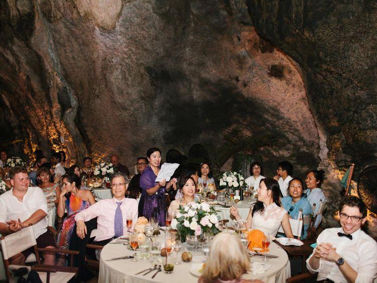 Wedding speeches at Thailand wedding