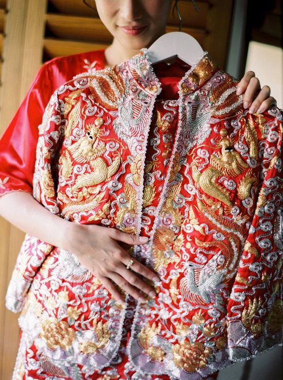 Wedding outfit for Chinese Tea Ceremony