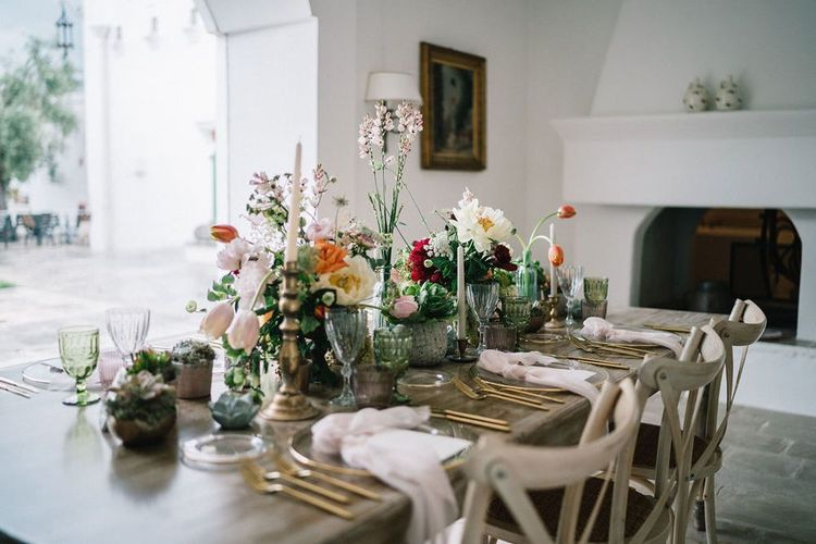 Intimate Table with Floral Centrepieces