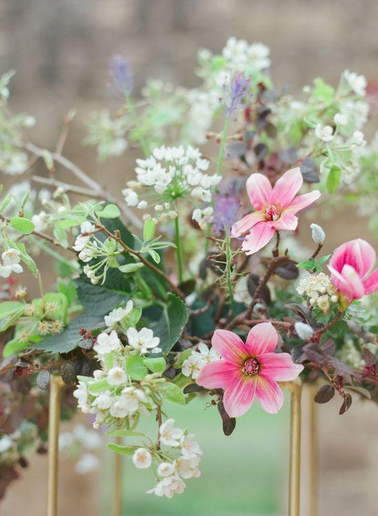 Romantic Wild Flower Arrangement