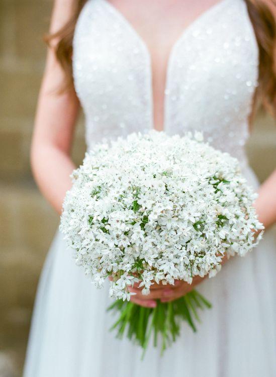 Pure White Wedding Posey