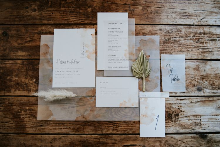 Stationery suit with vellum