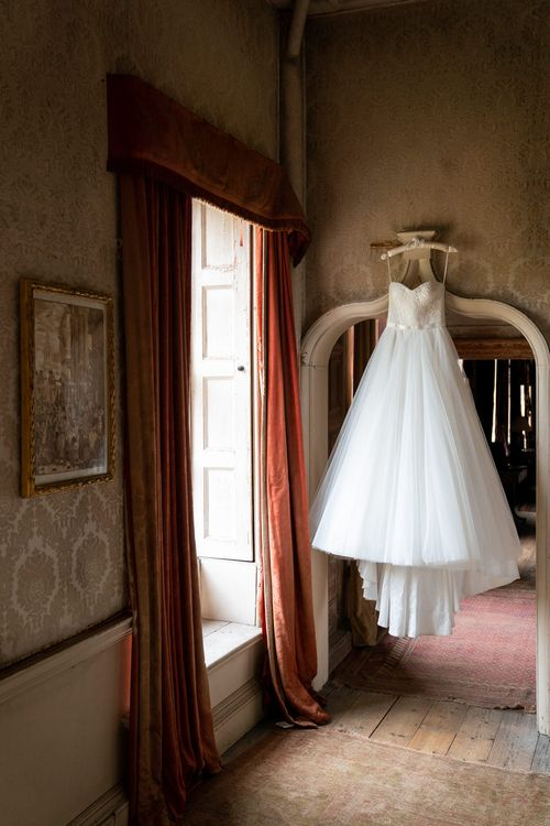 Princess Tulle Skirt Wedding Dress   Timeless Romance at Country House West Horsley Place, Surrey   Planned by Rachel Dalton Weddings   David Wheeler Photography