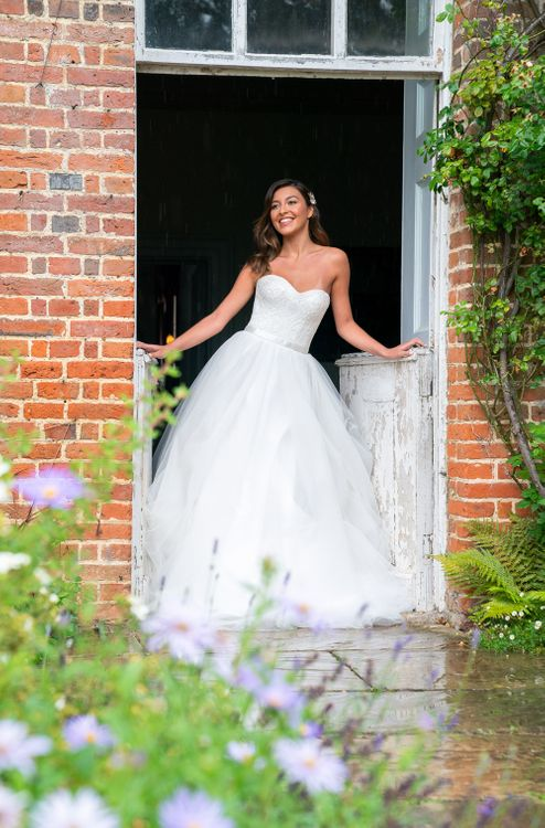 Bride in Princess Tulle Skirt Wedding Dress   Timeless Romance at Country House West Horsley Place, Surrey   Planned by Rachel Dalton Weddings   David Wheeler Photography