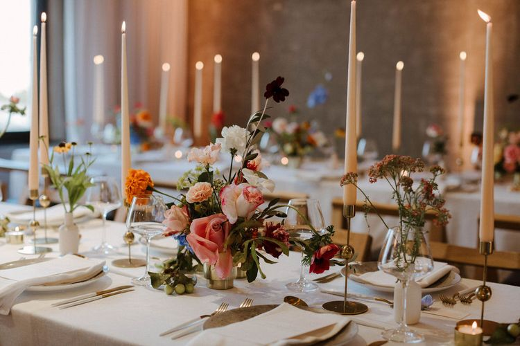 Wedding Reception Room At Ace Hotel Shoreditch Styled By Knot And Pop With Images From The Curries