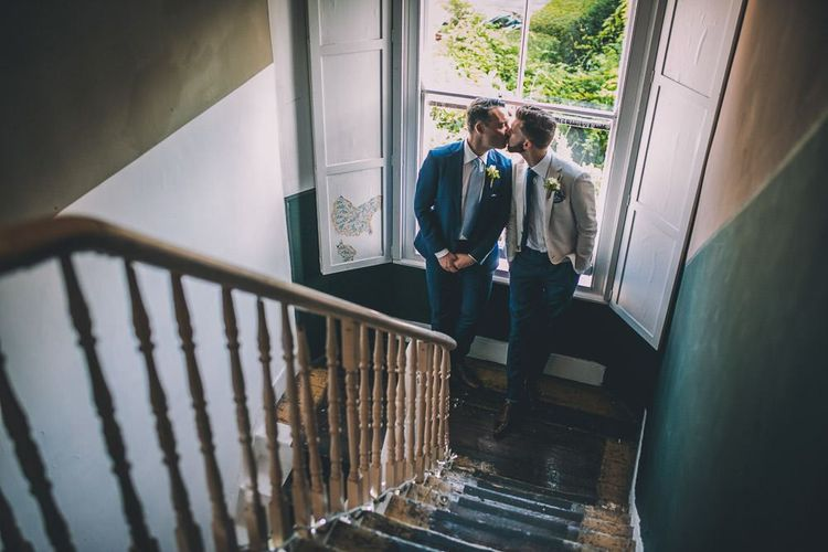 The Roost Dalston gay celebration with vintage styling and colourful decor for micro wedding