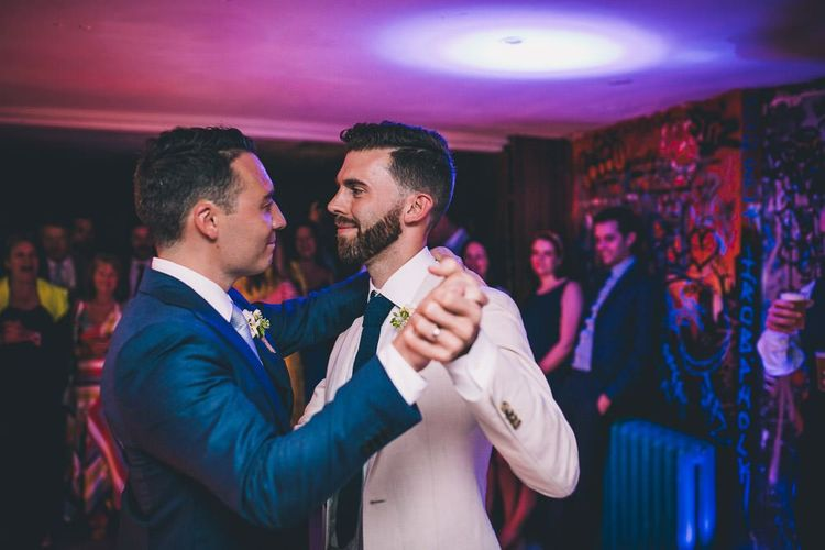 First dance at same-sex intimate celebration in London