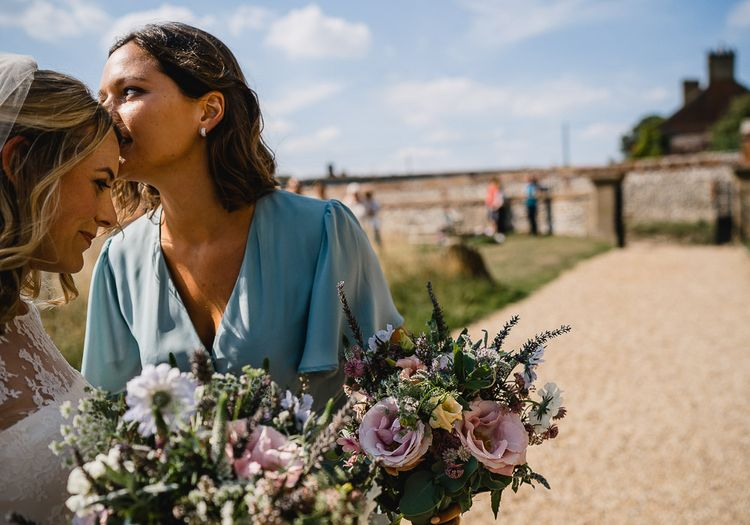 Coastal Inspired Marquee Wedding With Bride In Bespoke Dress And Bridesmaids In Rewritten Wrap Dresses Images By Luis Holden