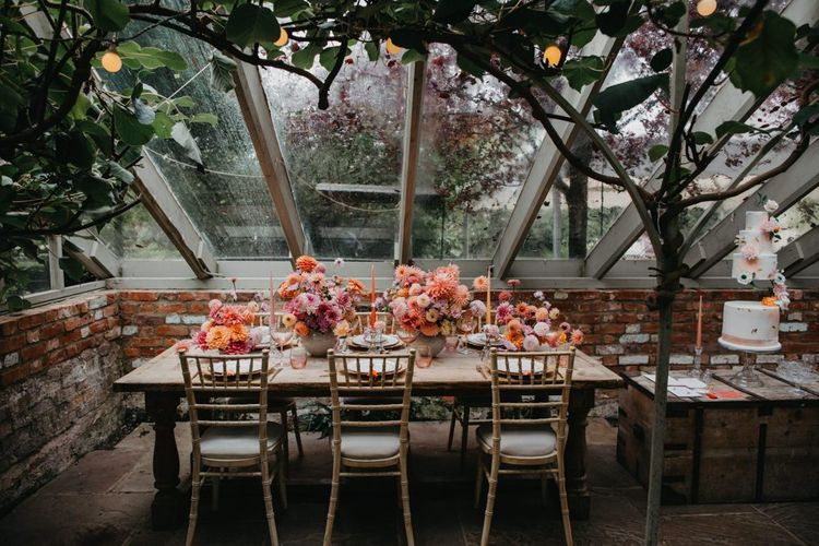 Tablescape in the conservatory at Secret Garden Kent