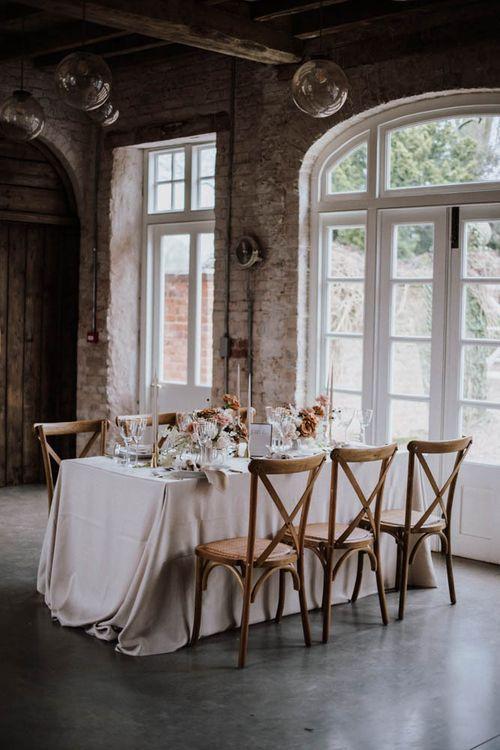 Elegant table setup at Iscoyd Park Coachhouse