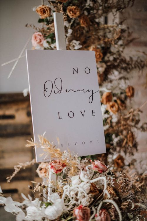 No oridinary love wedding sign by EYI Loves