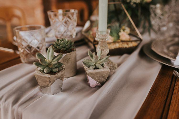 Miniature Concrete Succulent Plant Pots