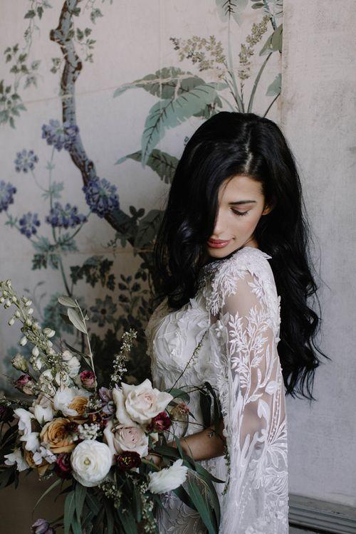 Beautiful Bride in Intricate Julita London Wedding Dress with  Embellishment