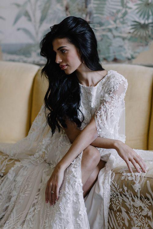 Beautiful Bride in Bespoke Julita London Wedding Dress