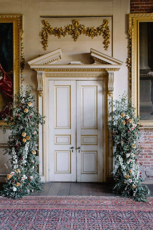Floral Altar at Intricate Doorway of St Giles House