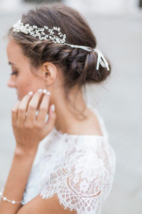 Half circlet wedding accessory