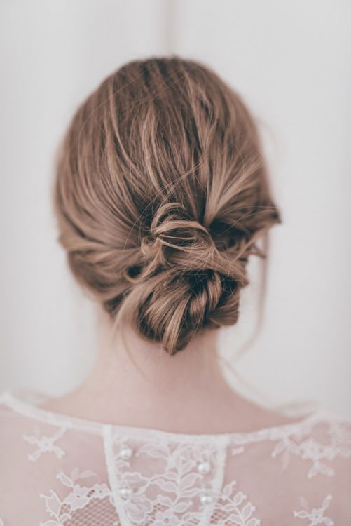 Loose yet sophisticated chignon