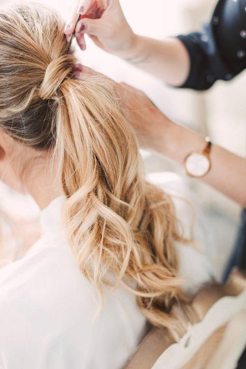 Tousled ponytail