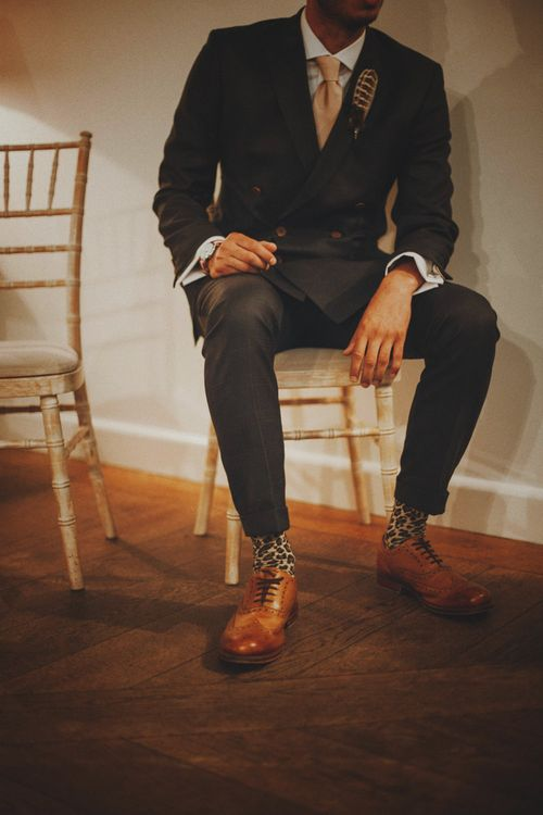 Grooms Shoes   Rustic Wedding at Farbridge West Sussex with Styling by Fairly Vintage   Meghan Lorna Photography